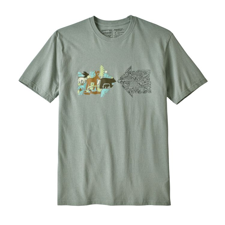 Patagonia Real Riches Responsibili-Tee for Men in Celadon