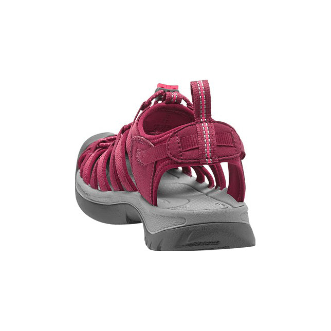 Keen Whisper Sandal for Ladies in Beet Red