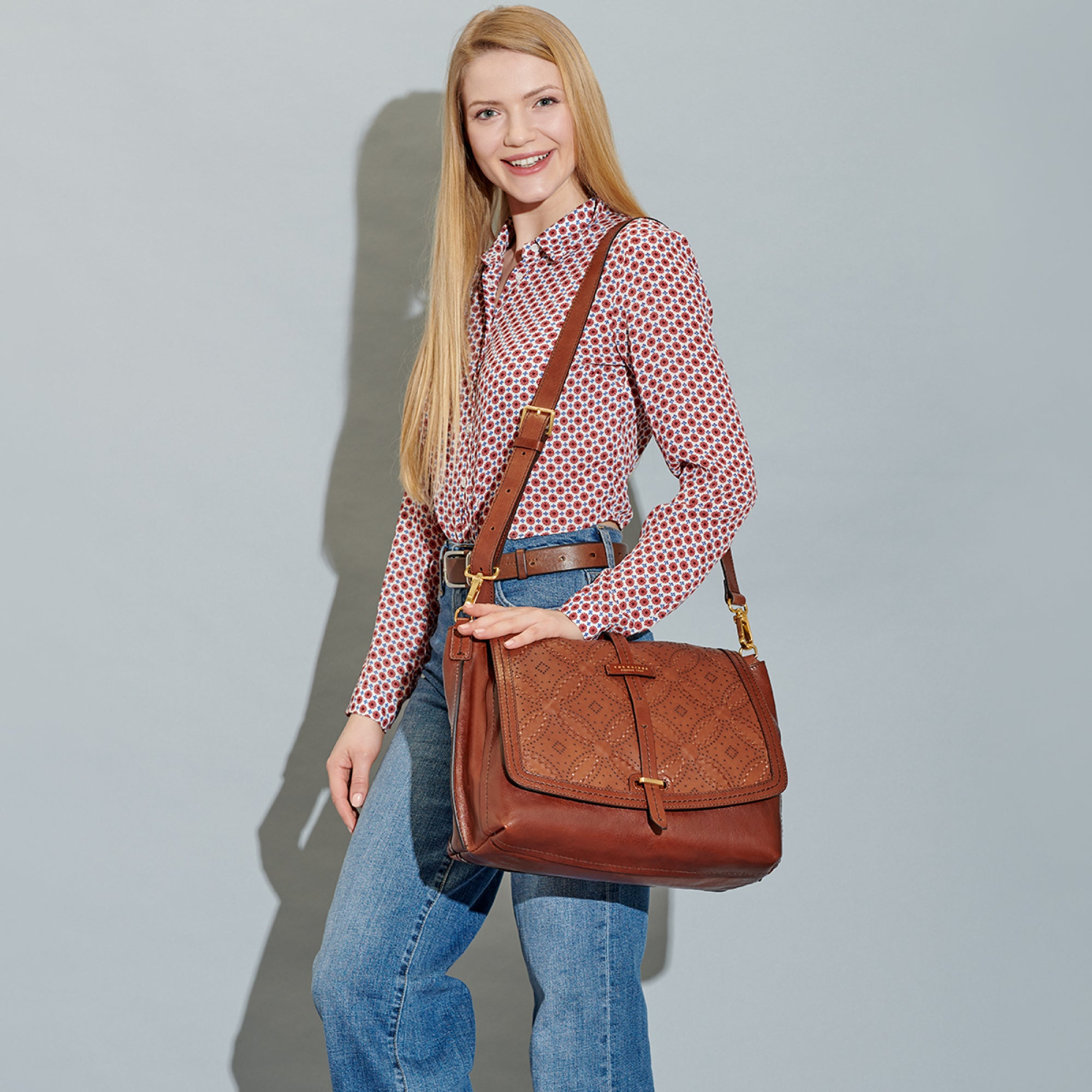 The Bridge Bags Double Function Cerboli Bag for Ladies in Brown