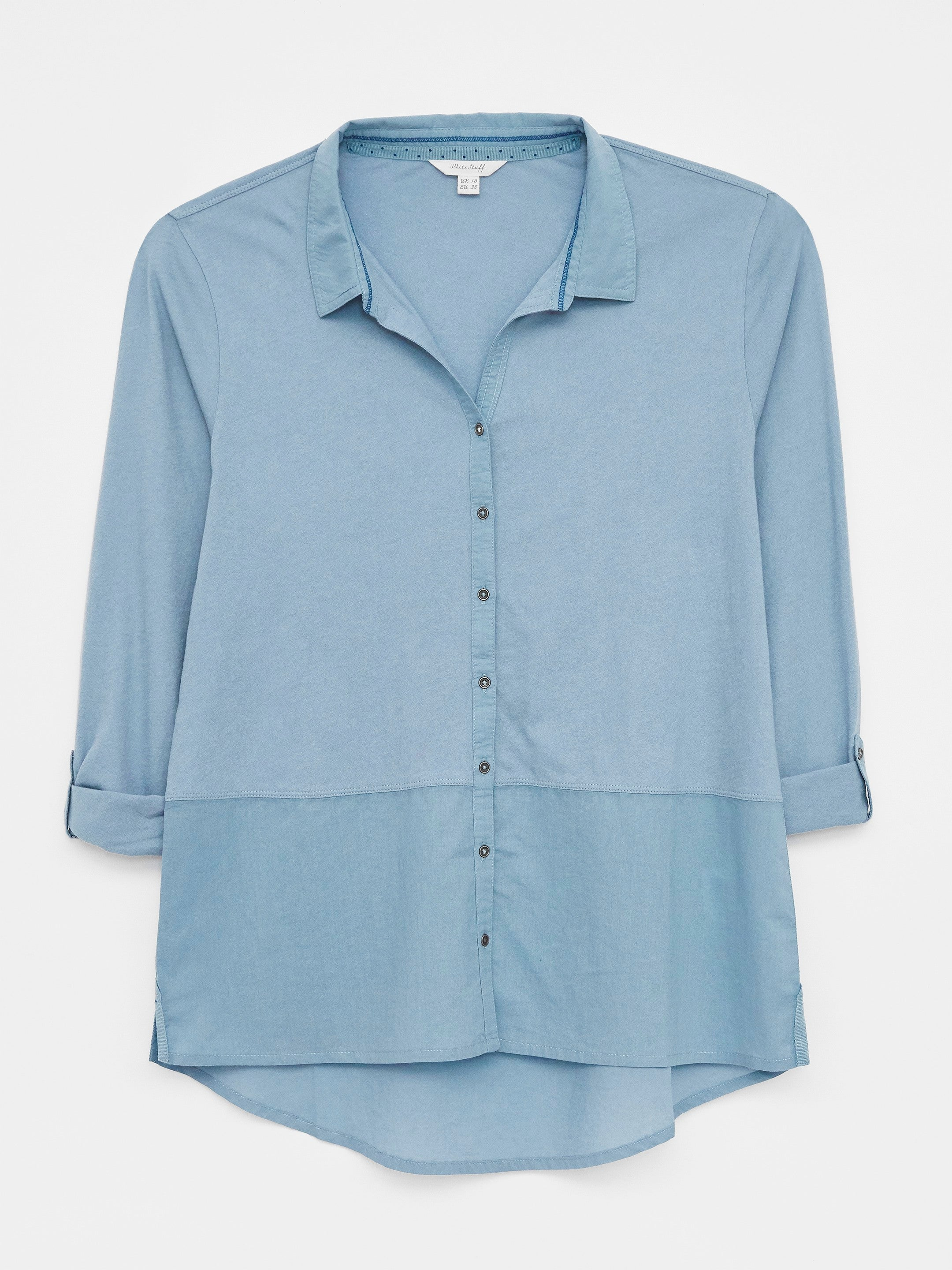 White Stuff Park Pocket Jersey Shirt for Ladies in Blue Multi