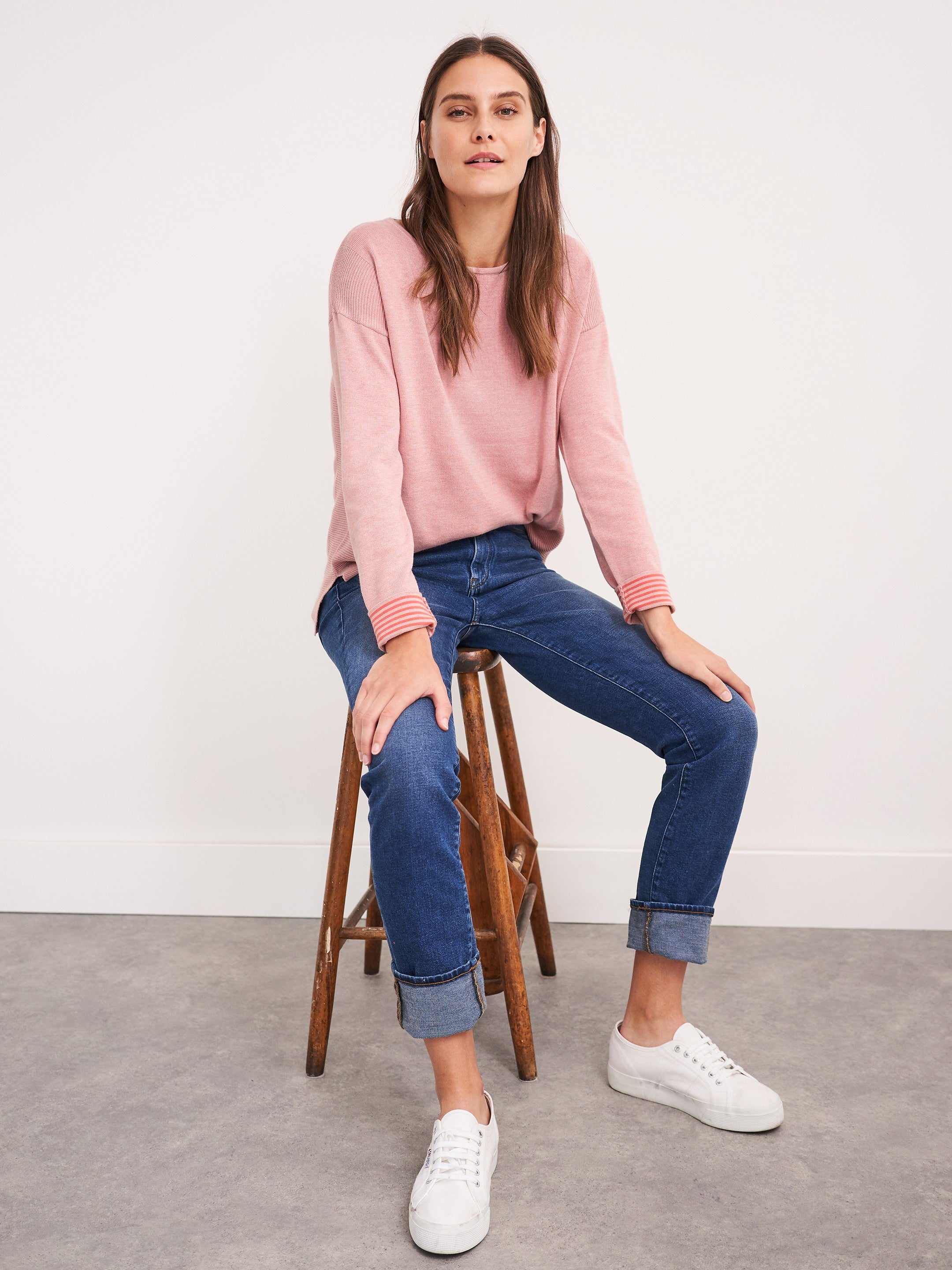 White Stuff Olivia Jumper for Ladies in Dusty Pink