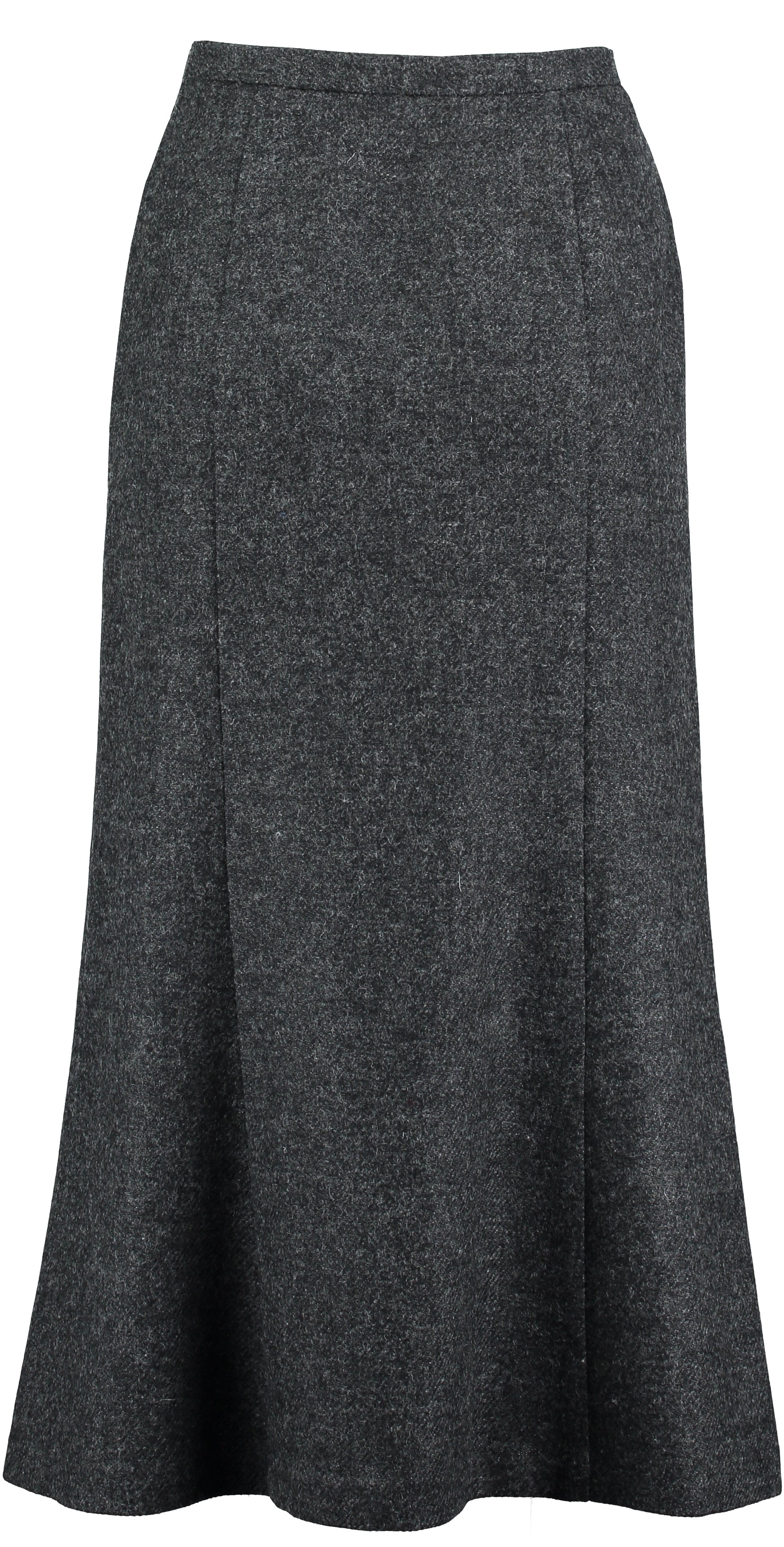Landmark Long Panel Tweed Skirt for Ladies in Charcoal