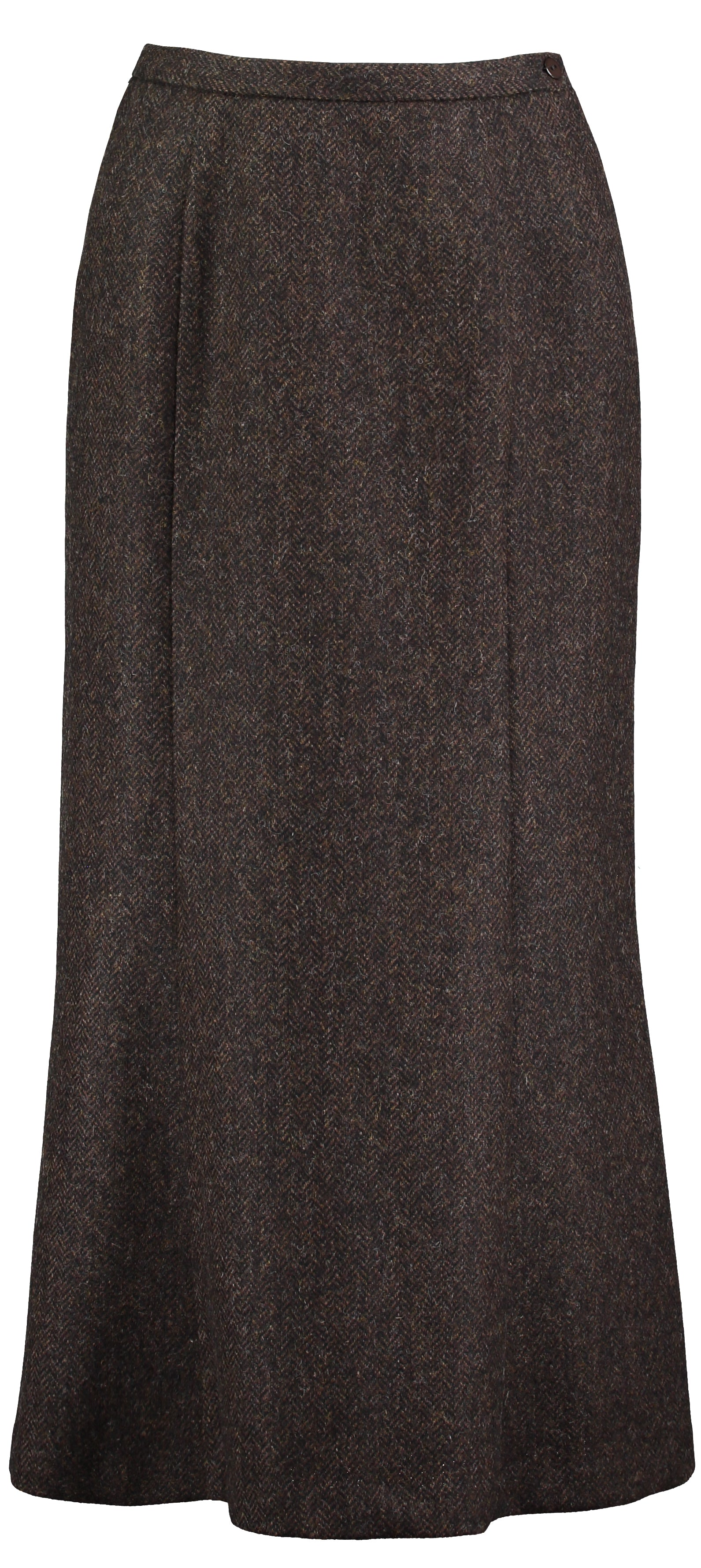 Landmark Long Panel Skirt for Ladies in Dark Brown