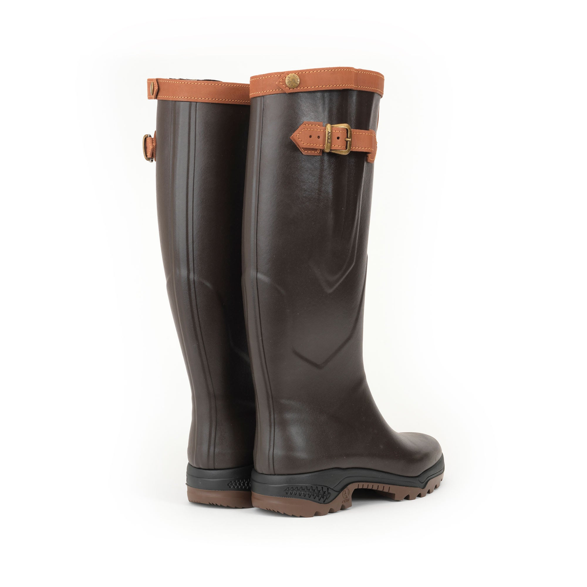Aigle Parcours 2 Signature Wellies for Men in Brown