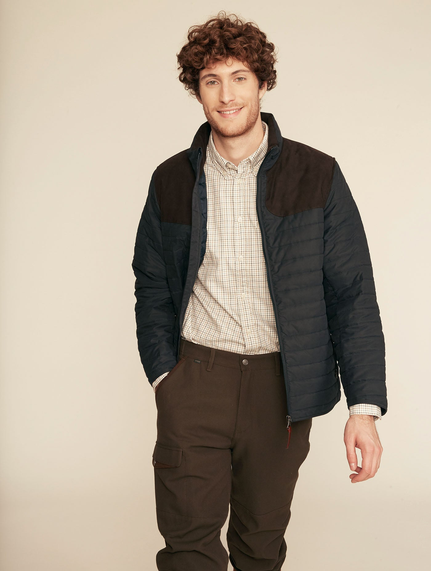 Aigle Braisac Quilted Jacket for Men in Navy