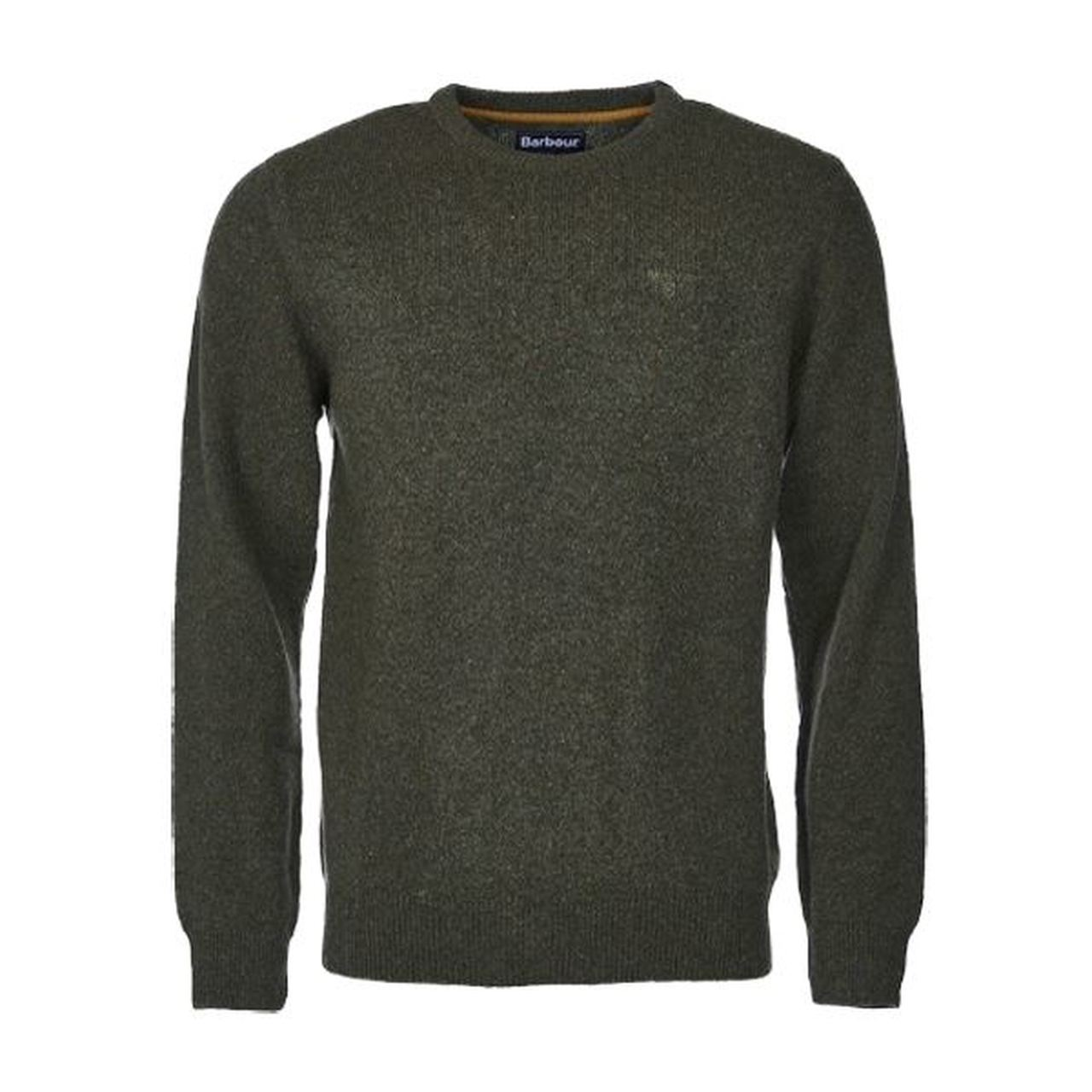 Barbour Tisbury Crew Neck Jumper for Men in Forest