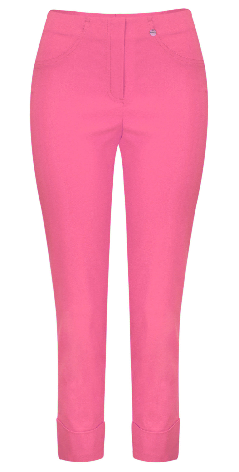 Robell Bella 7/8 Cuff Trousers for Ladies in Hot Pink