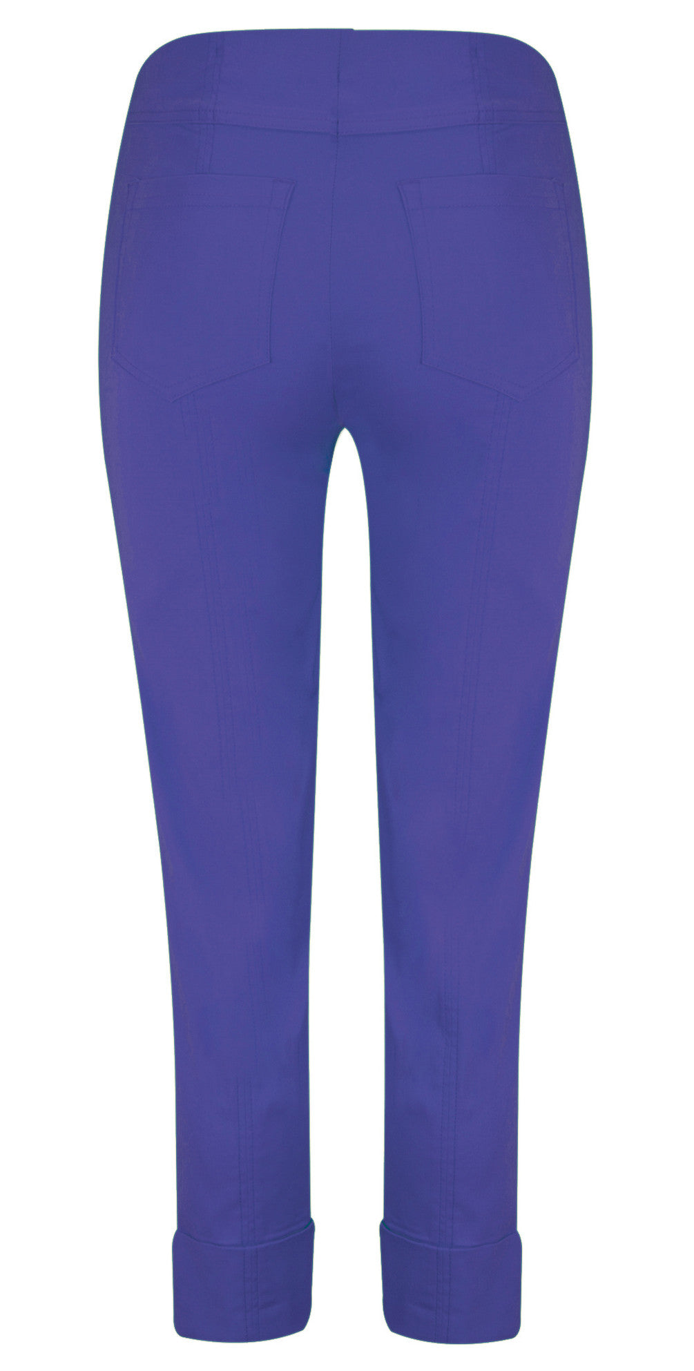 Robell Bella 7/8 Cuff Trousers for Ladies in Royal Blue