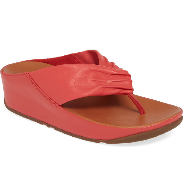 Fitflop Twiss Leather Sandals for Ladies in Passion Red