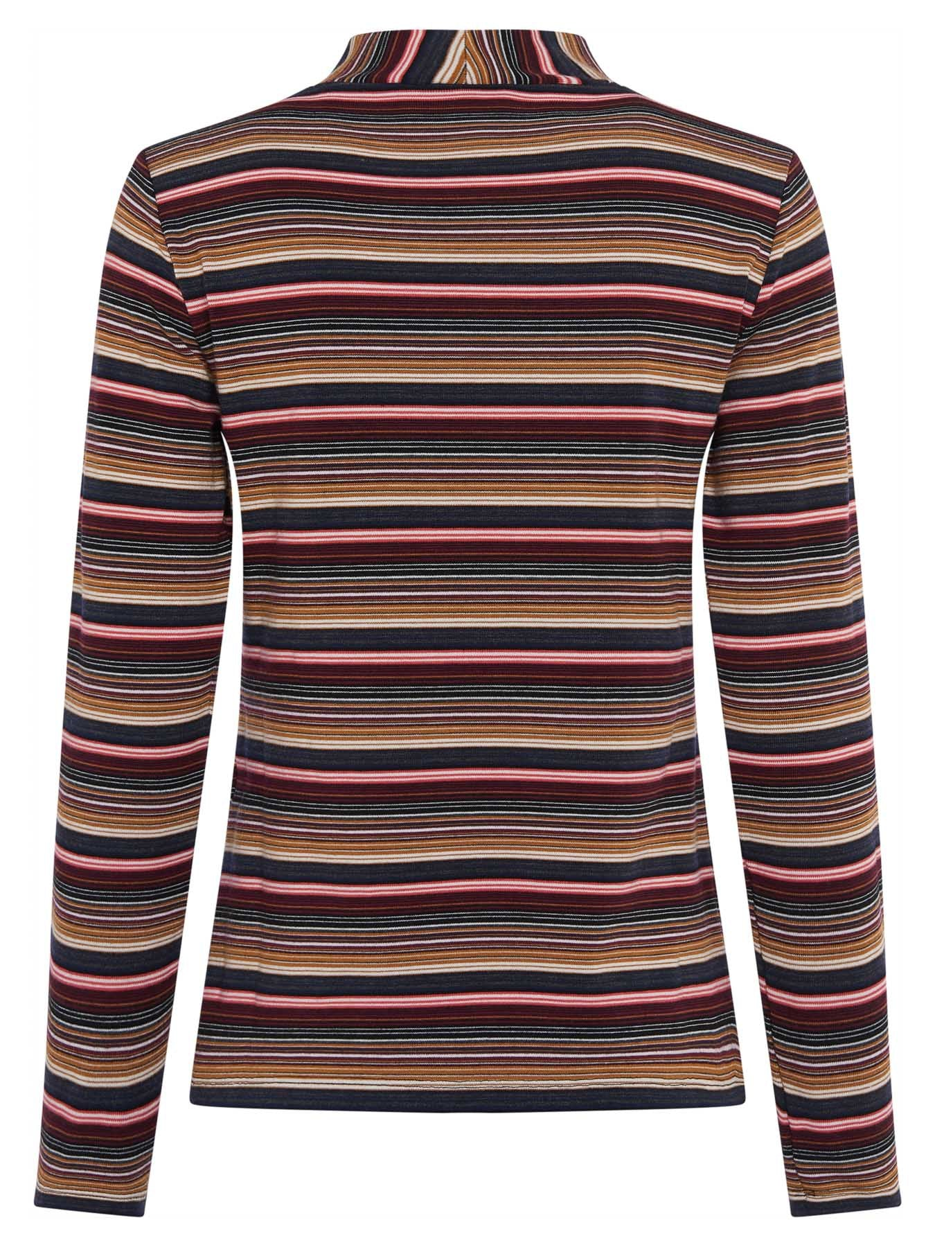 Great Plains Molly Stripe Round Neck Top for Ladies in Multi Stripe