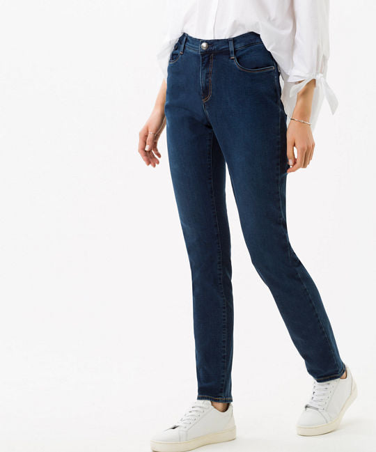 Brax Carola Straight Leg Jeans for Ladies in Mid Blue