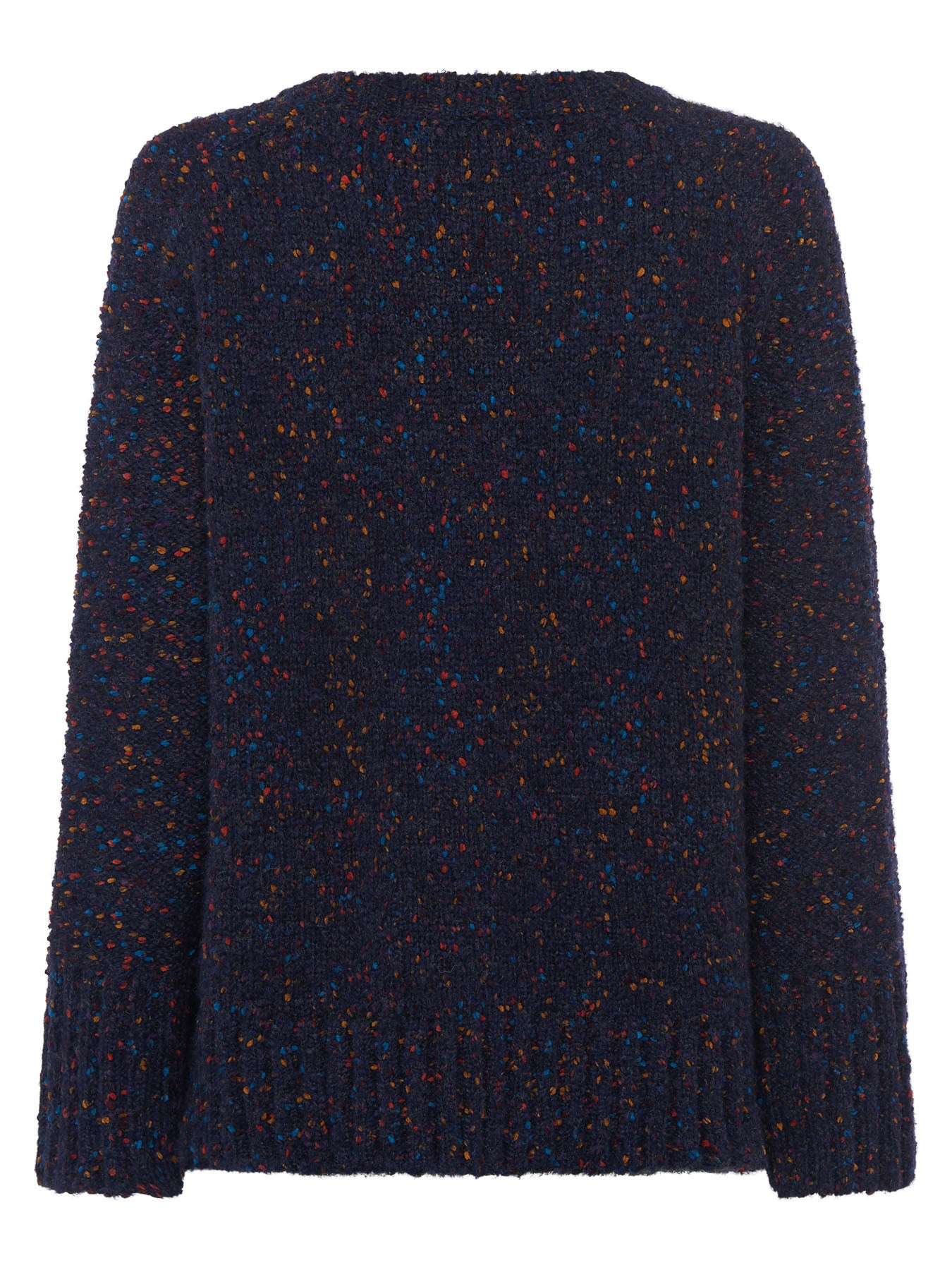 Great Plains Julia Knit Crew Neck Jumper for Ladies in Smokey Blue Multi