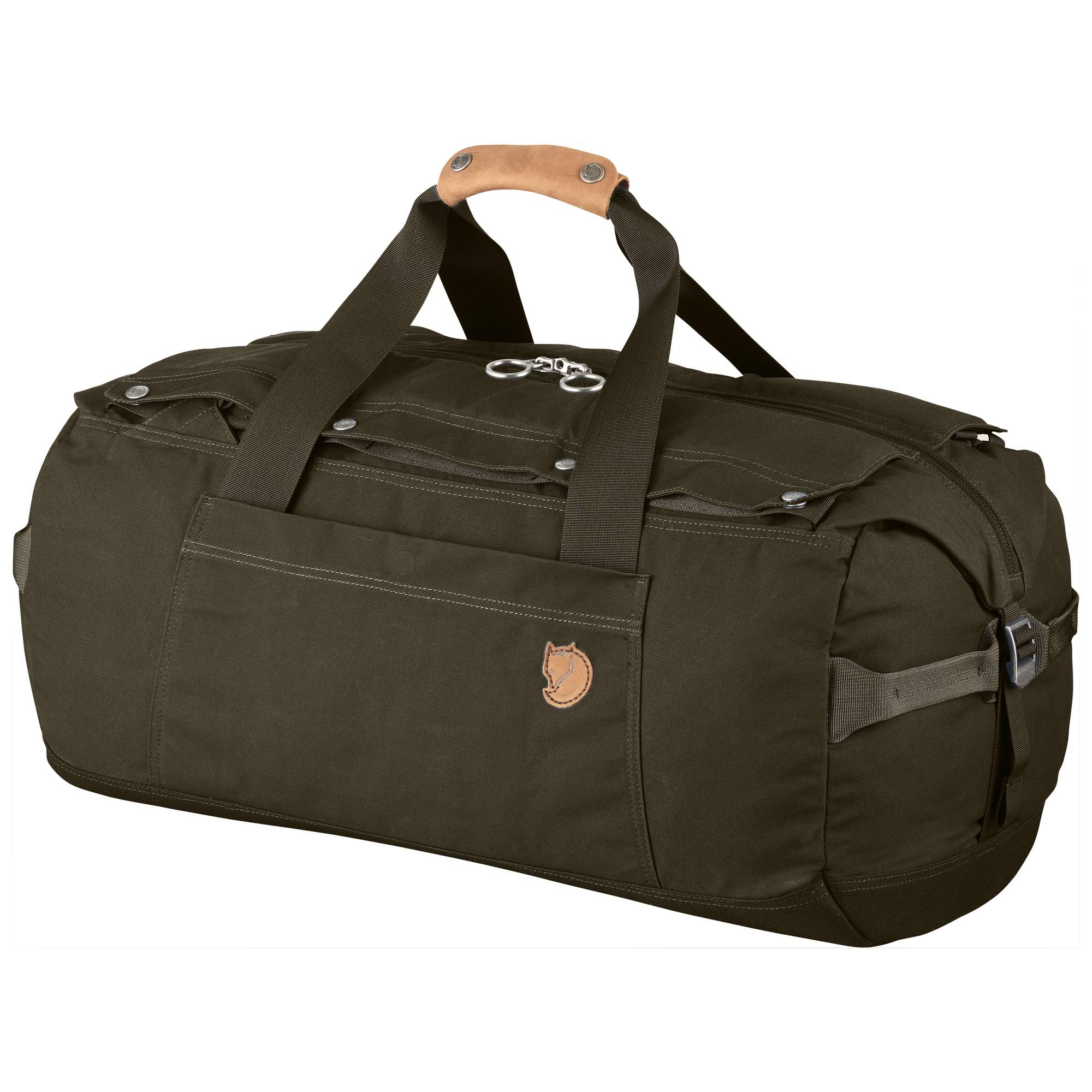 Fjallraven No 6 Medium Duffel Bag in Dark Olive