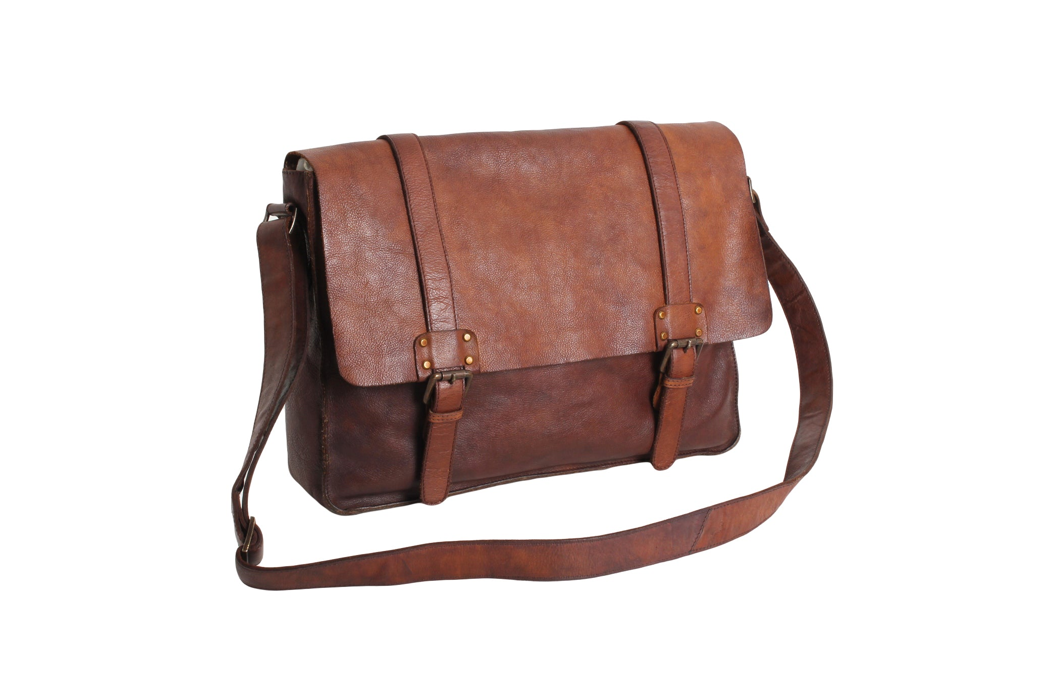Ashwood Shoreditch Messenger Bag in Rust