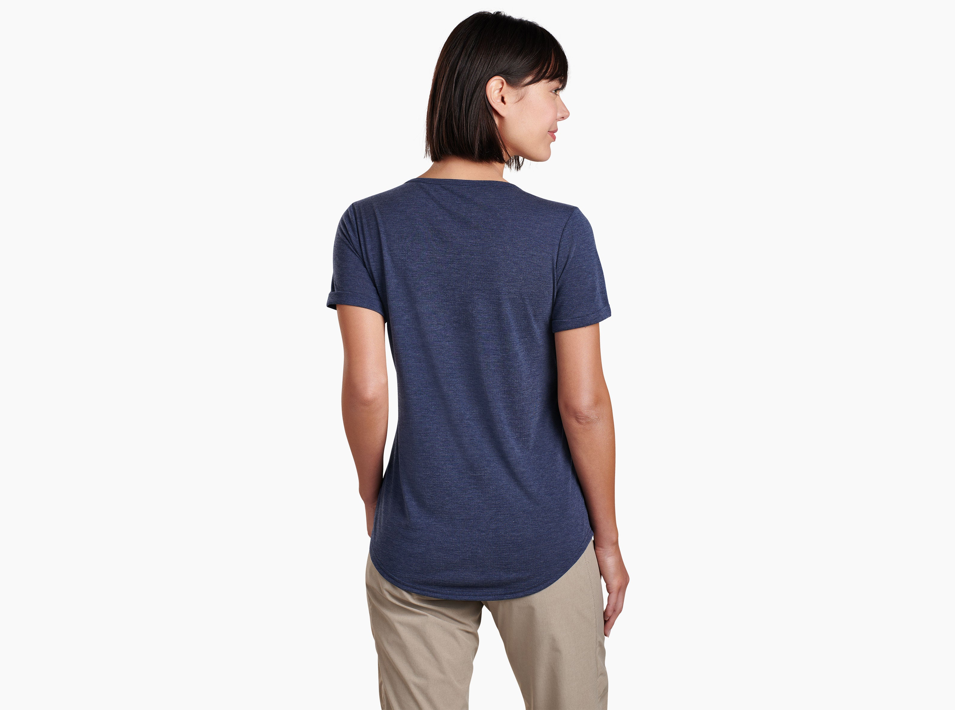 Kuhl Inara Short Sleeved Tee for Ladies in Abyss