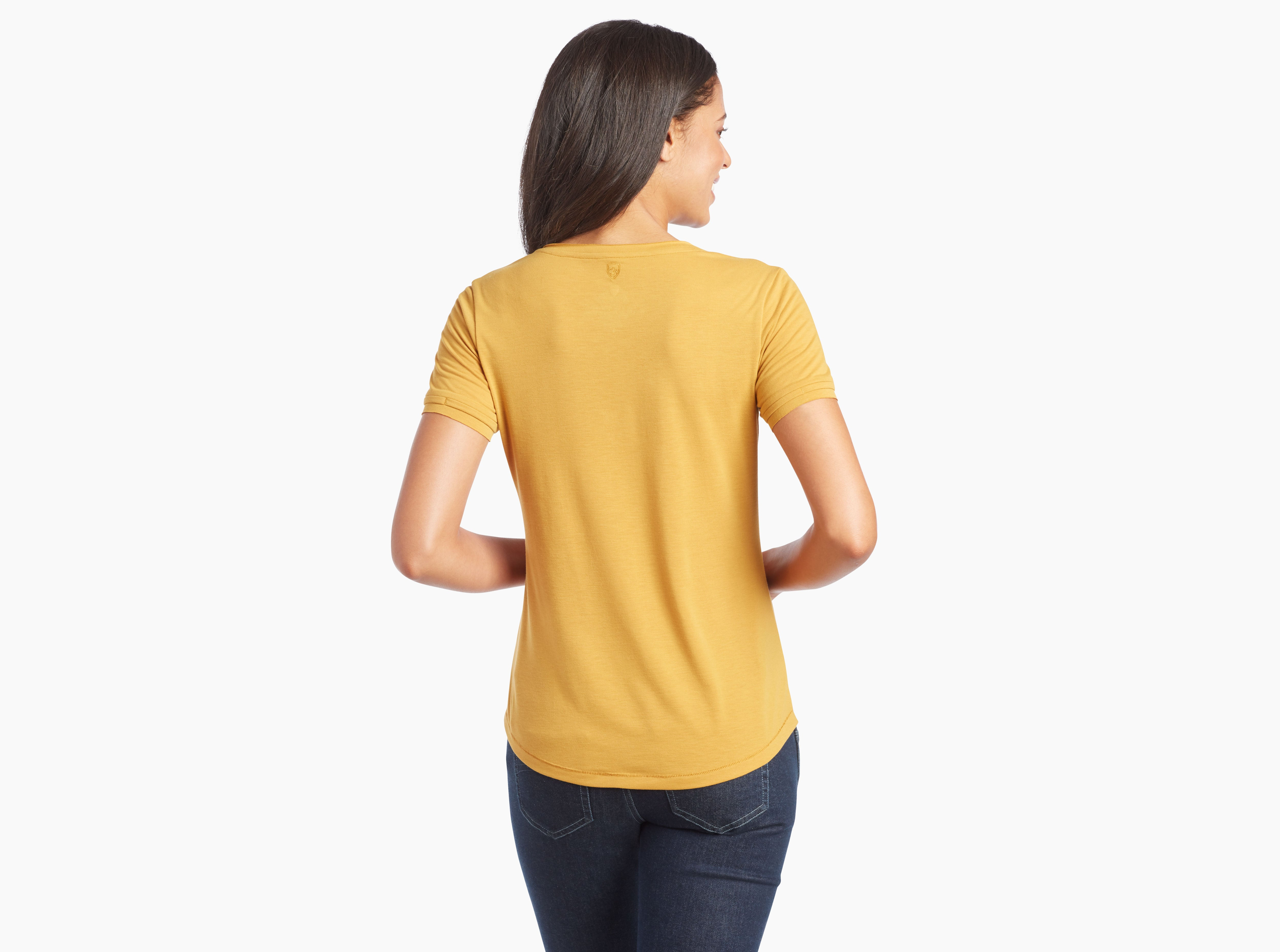 Kuhl Juniper Short Sleeve Tee for Ladies in Golden