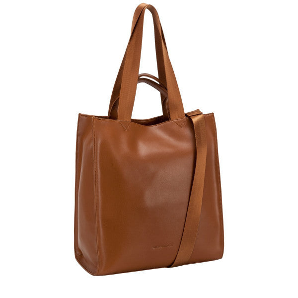 Smith and Canova Smooth Leather Tote / Shoulder Bag in Tan