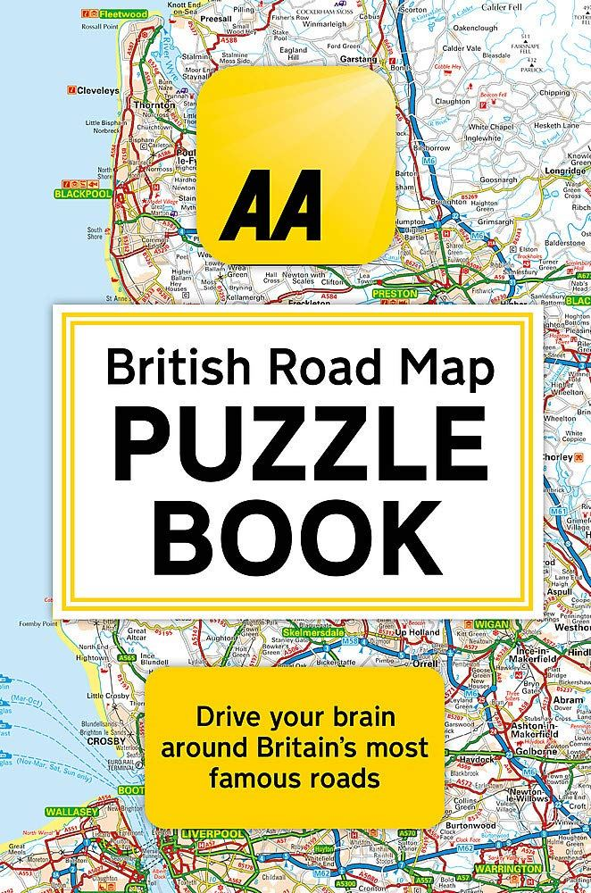 Bookspeed AA British Road Map Puzzle Book by Helen Brocklehurst