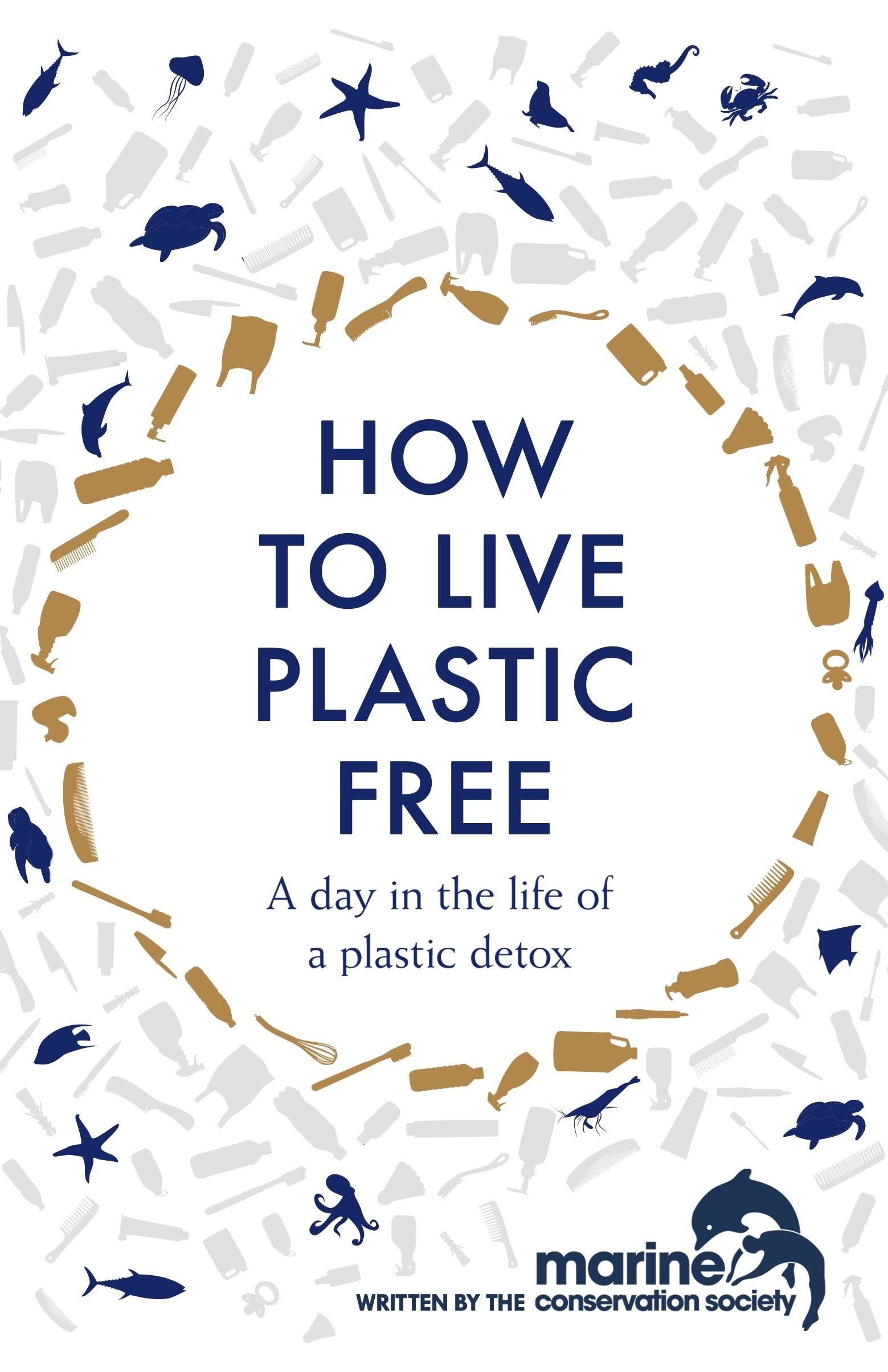 Bookspeed How To Live Plastic Free Book by Marine Conservation Society