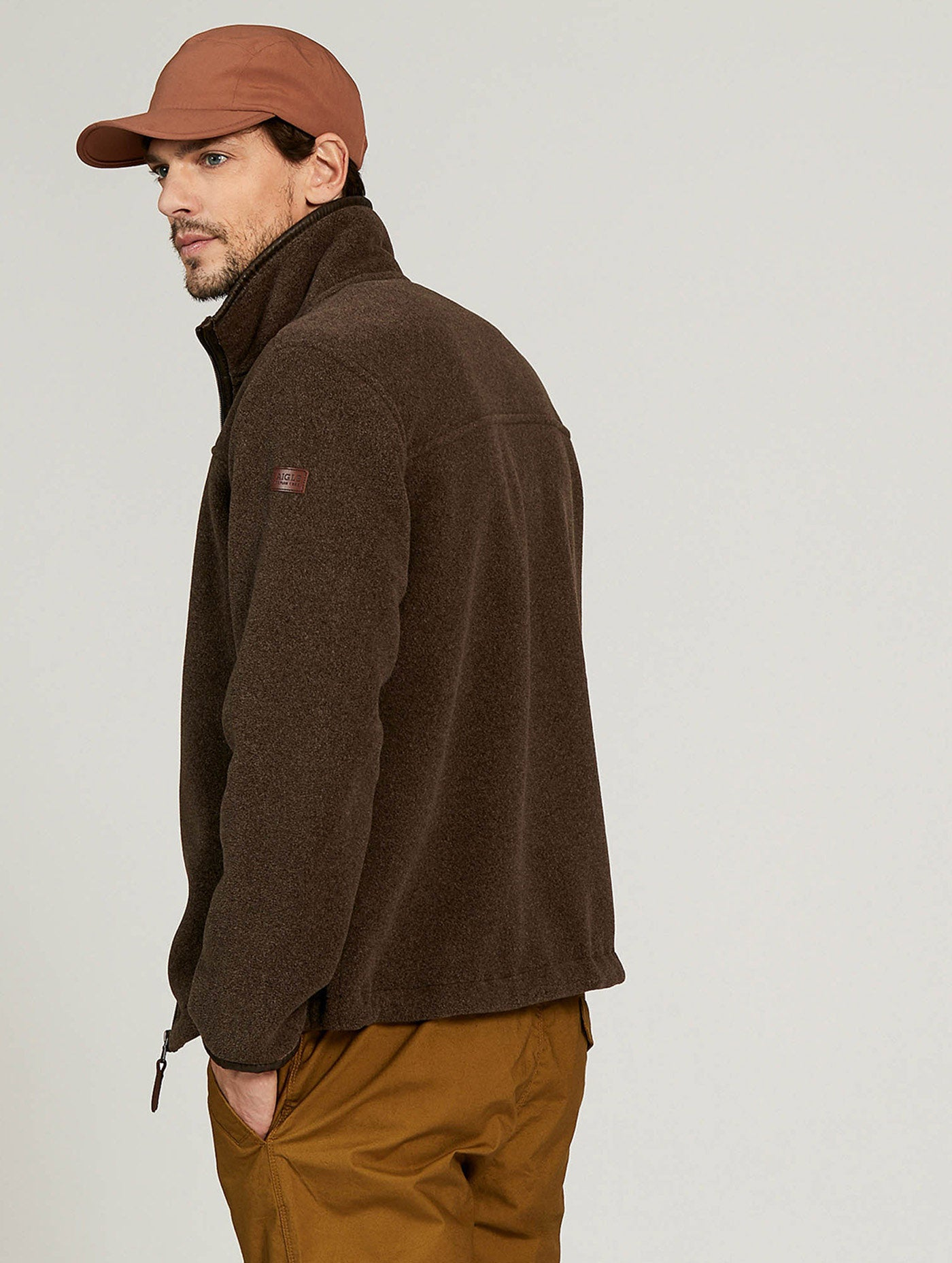 Aigle New Garrano Fleece for Men in Marron