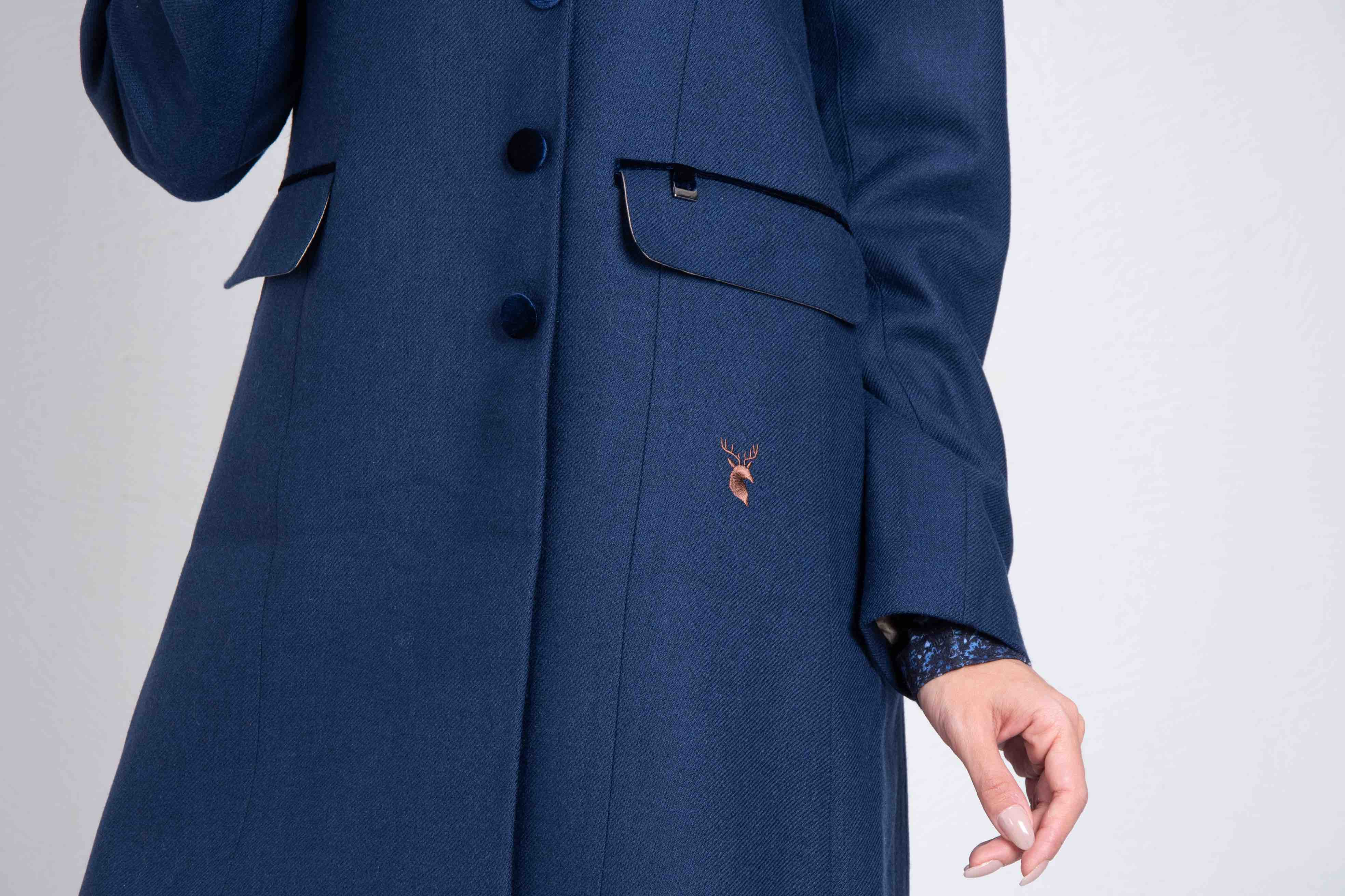 Hartwell Anna Coat for Ladies in Plain Navy