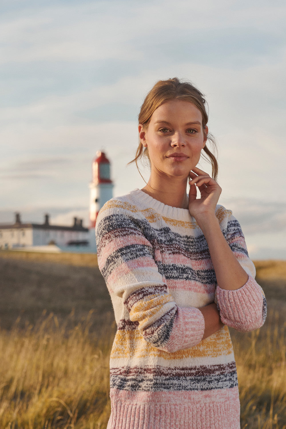 Barbour Auklet Knit Jumper for Ladies in Multi