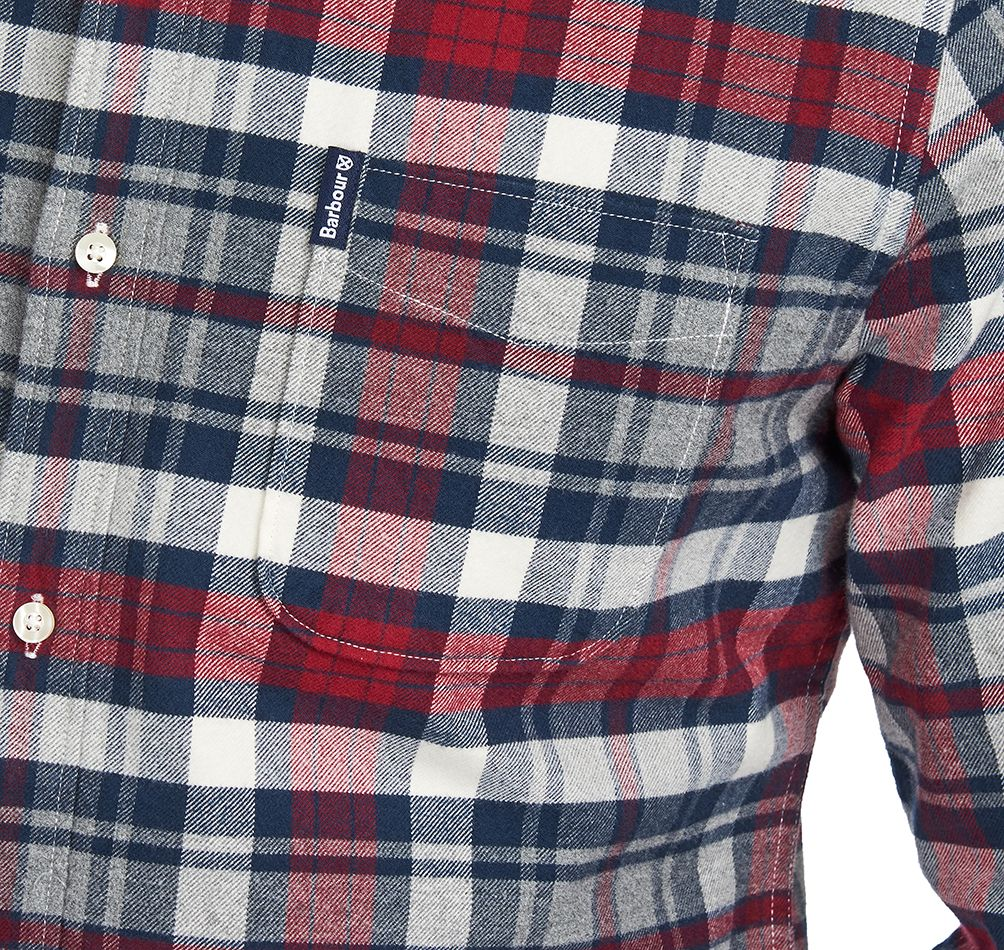 Barbour Highland Check 31 Tailored Shirt for Men in Rich Red