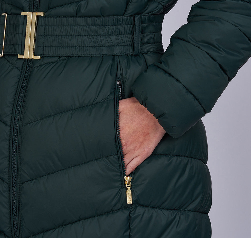 Barbour International Lineout Quilted Jacket for Ladies in Serpentine