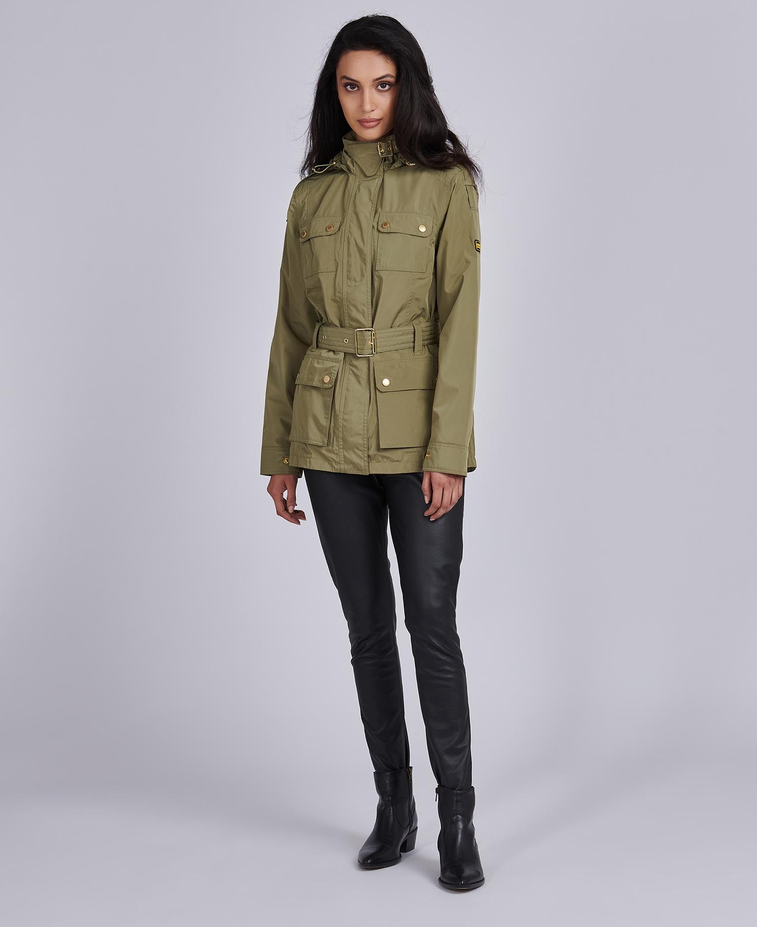 Barbour International Pace Jacket in Light Army Green