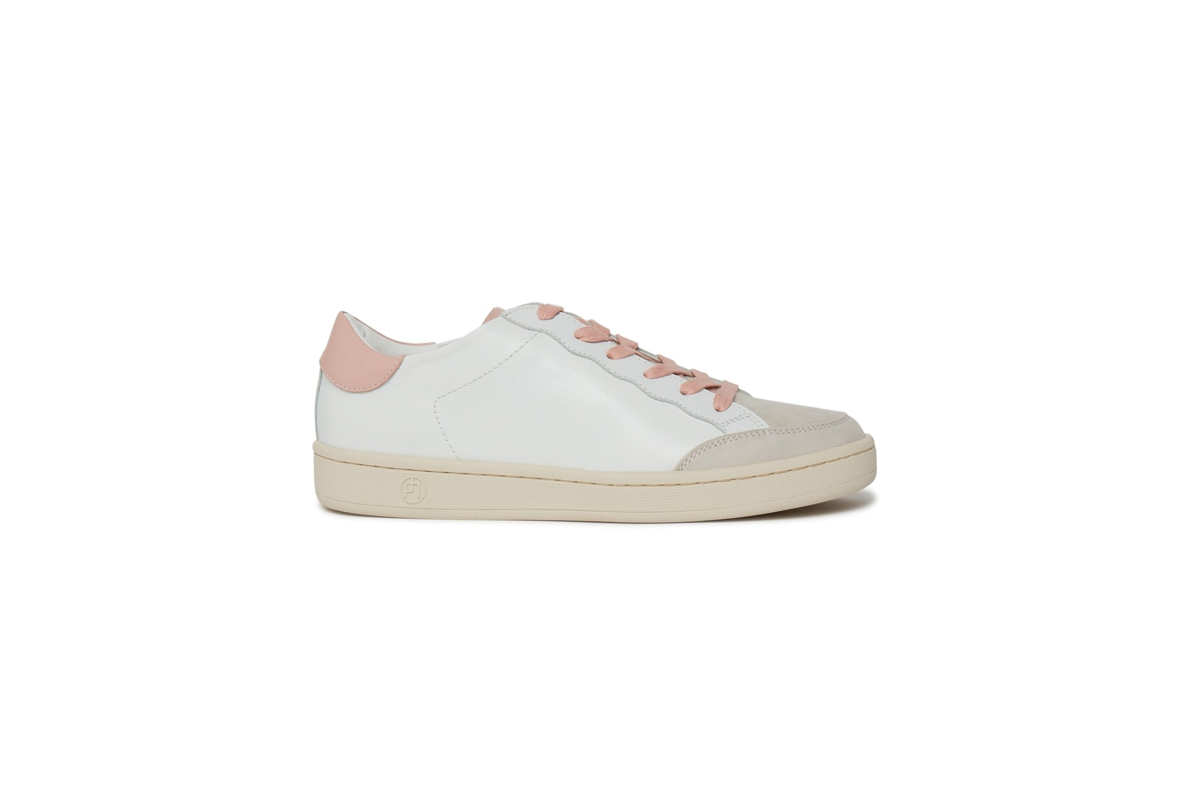 Phillip Hog Hannah Leather Trainer for Ladies in Rose Water