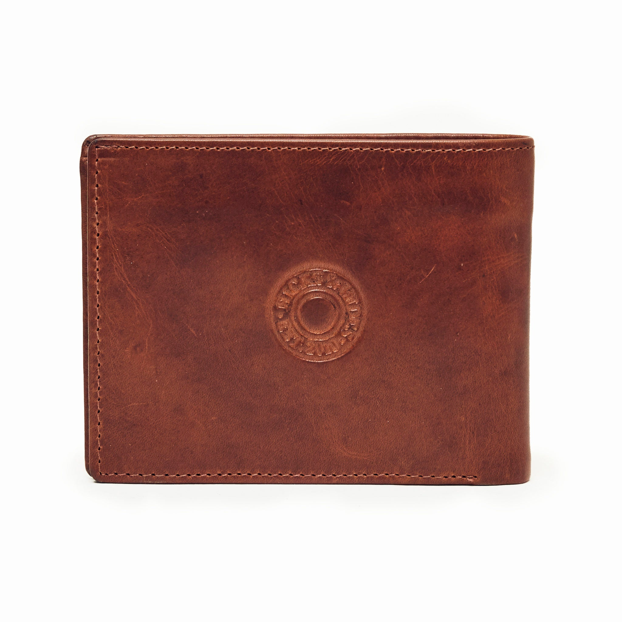 Hicks and Hides 12 Bore Leather Wallet for Men in Cognac