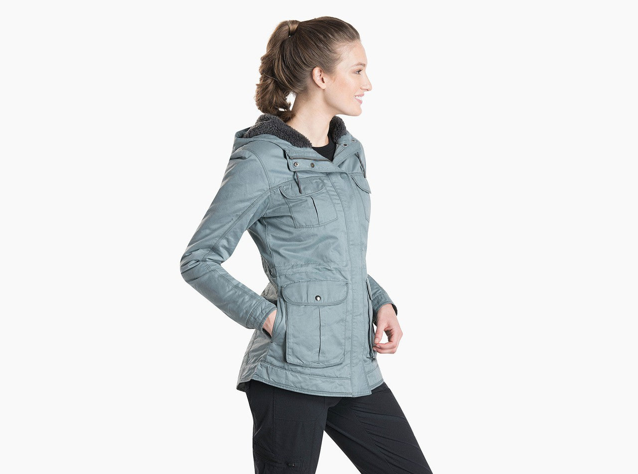 Kuhl Fleece Lined Luna Jacket for Ladies in Mineral Blue