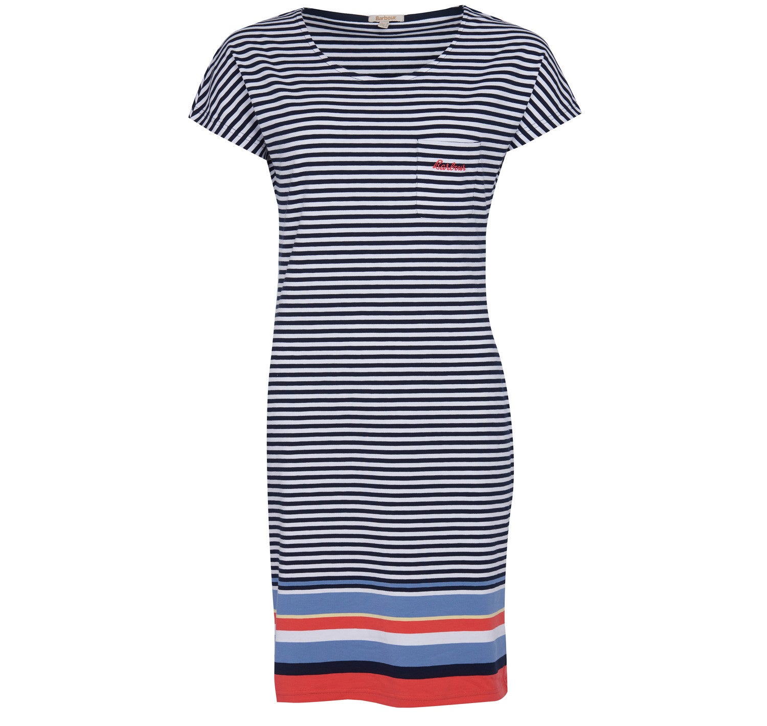 Barbour Harewood Stripe Dress for Ladies in Navy