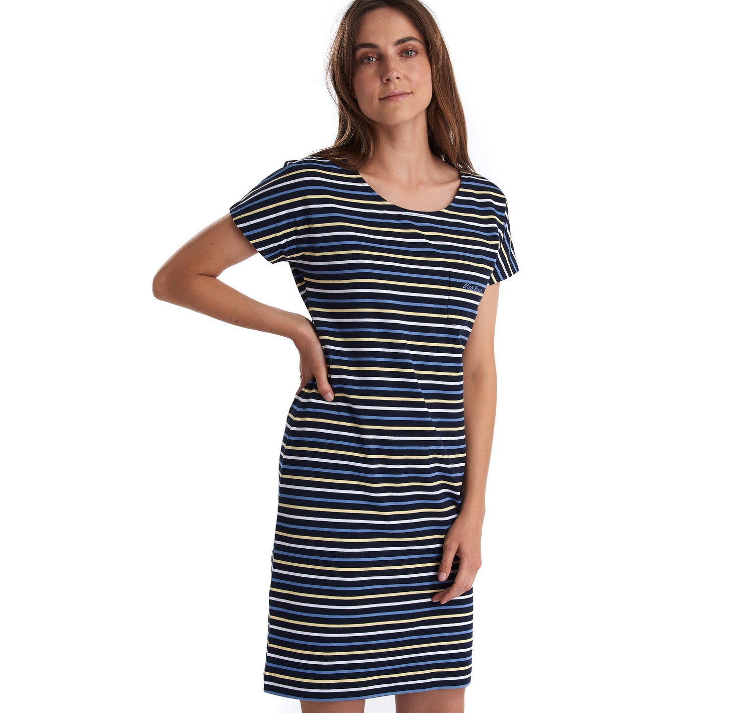 Barbour Harewood Dress for Ladies in Navy