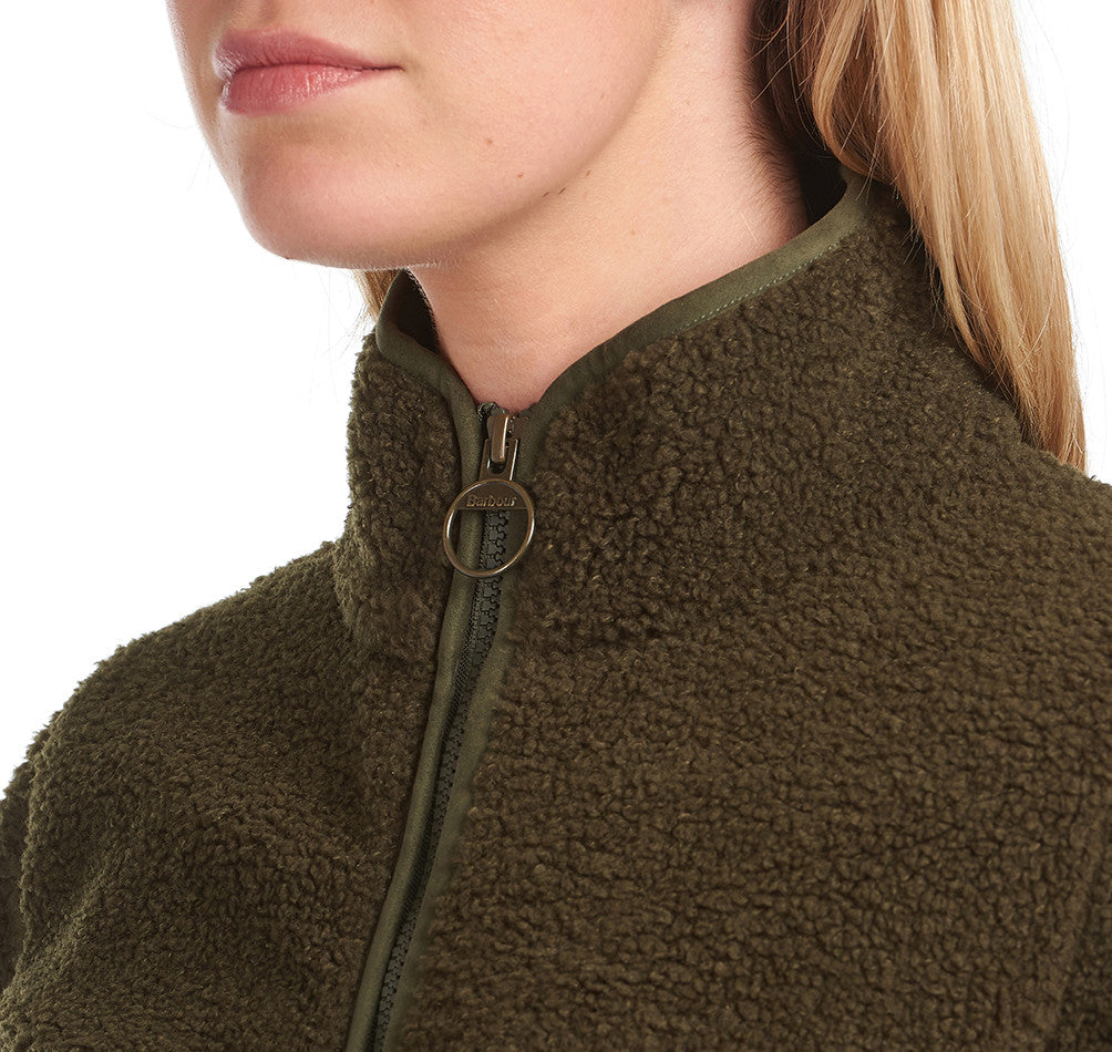 Barbour Millhouse Fleece for Ladies in Olive