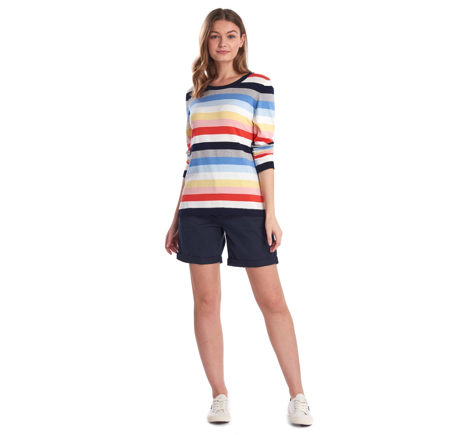 Barbour Seaview Knit Jumper for Ladies in Multi Stripe