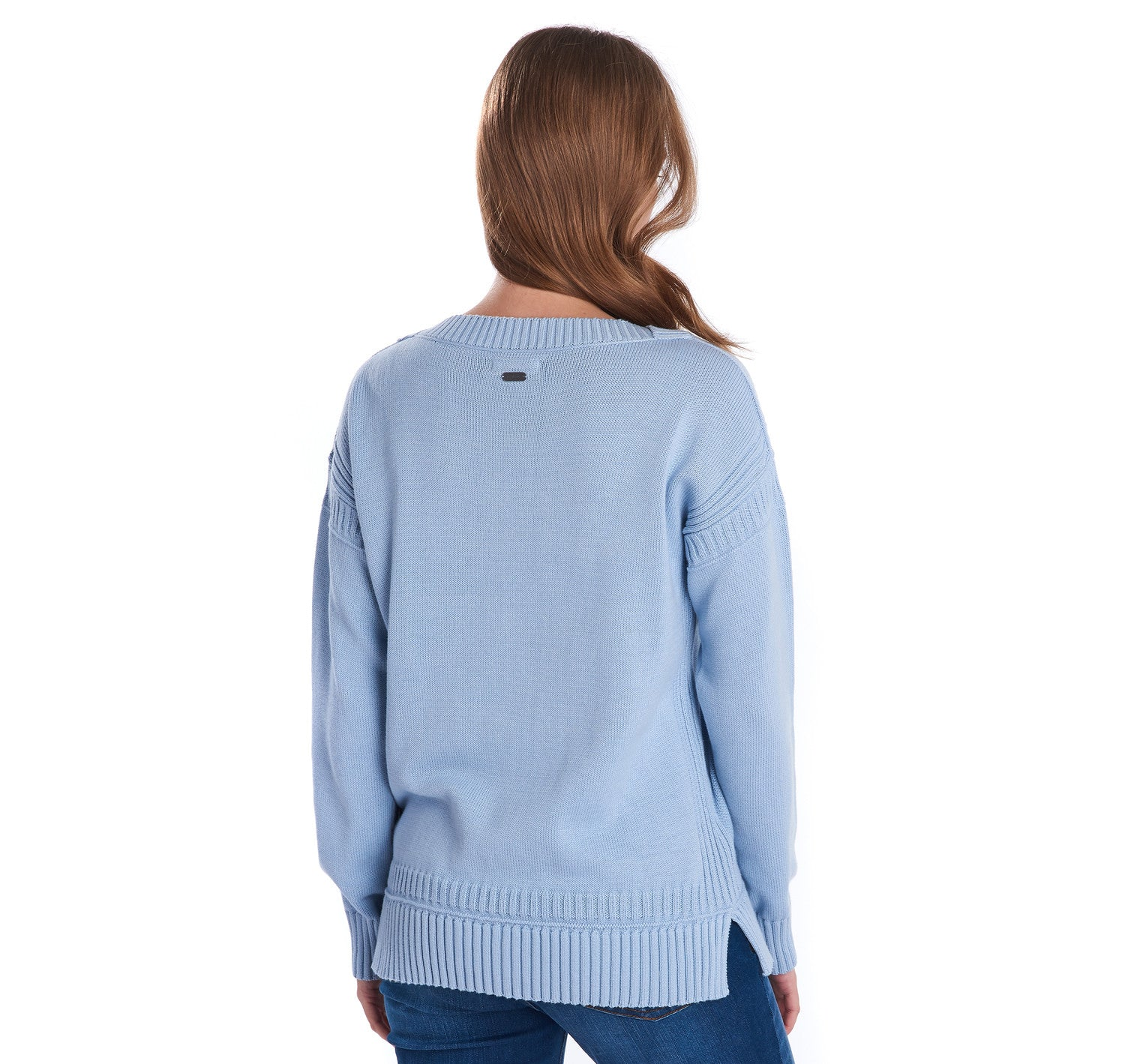Barbour Sailboat Knit Jumper for Ladies in Skyline Blue
