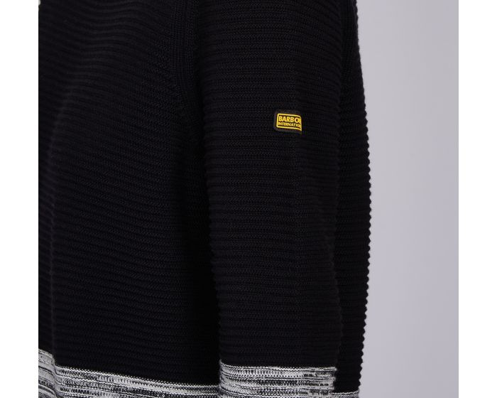 Barbour International Thunderbolt Knit for Ladies in Black