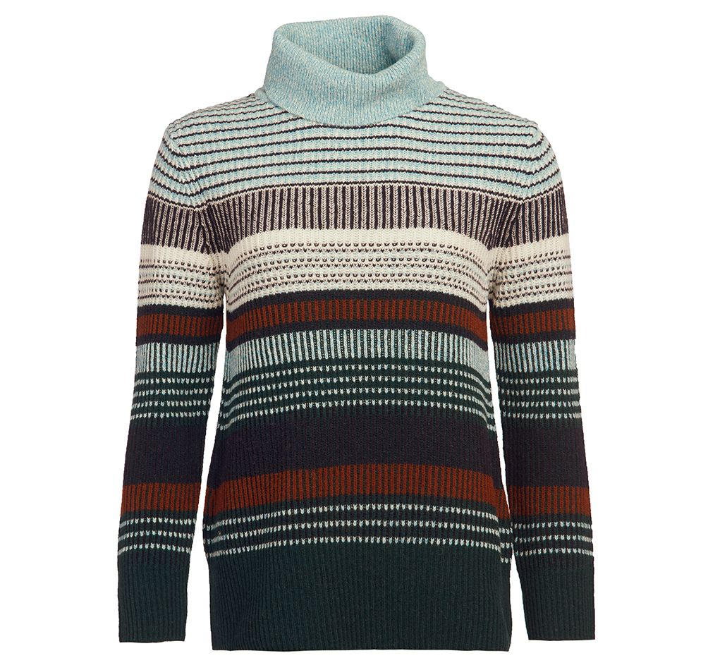 Barbour Roseate Roll Neck Knit for Ladies in Isle Green