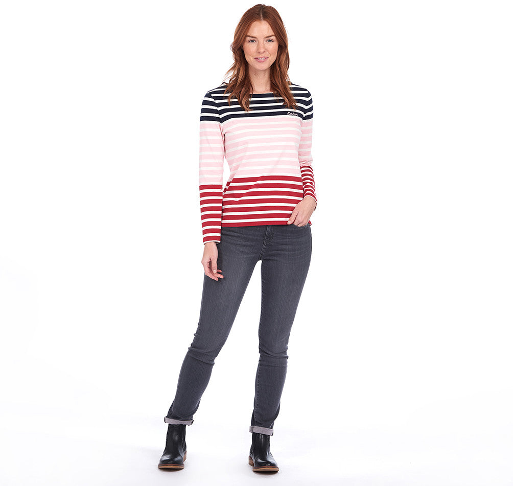 Barbour Bradley Top for Ladies in Navy