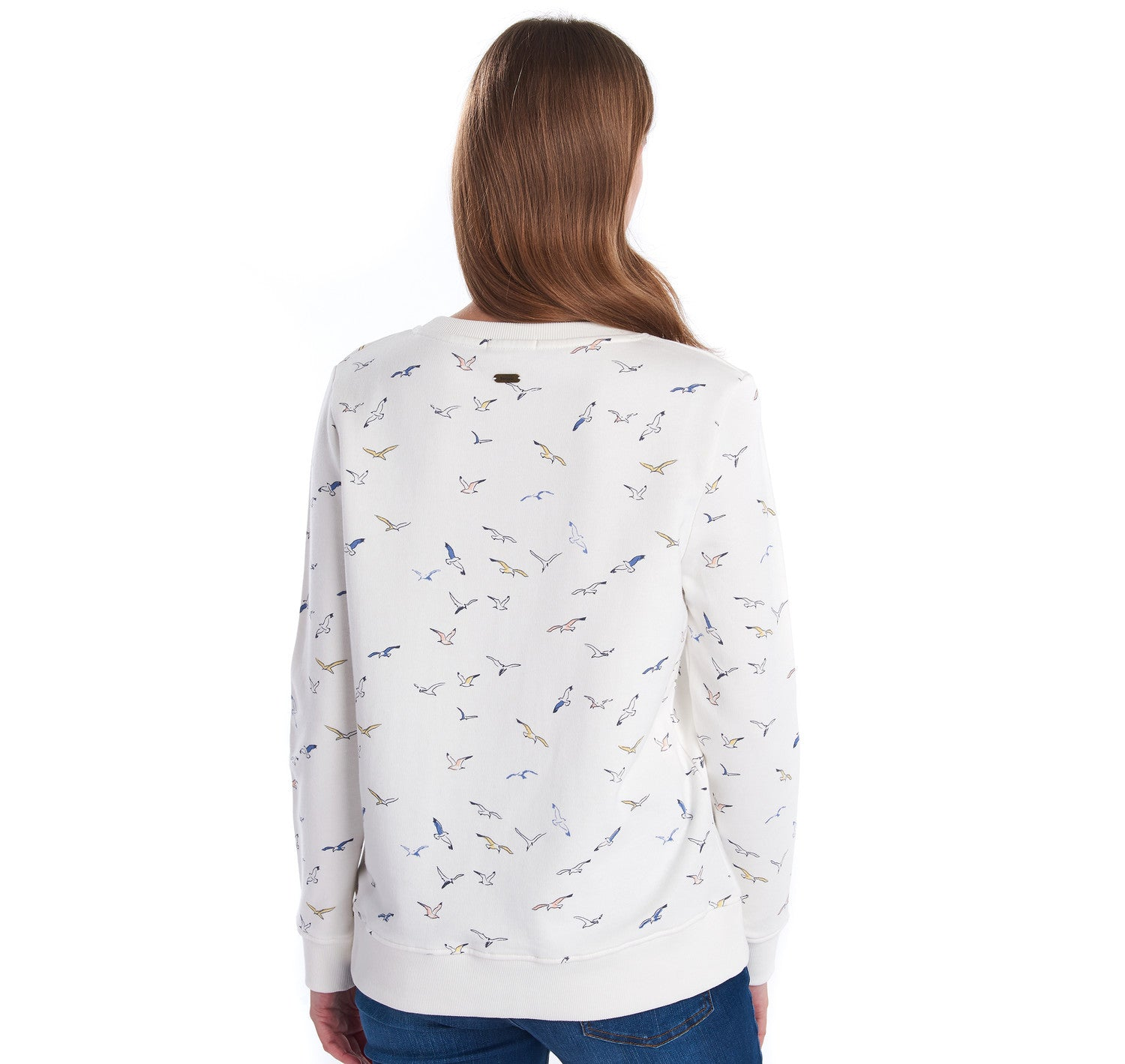 Barbour Amber Sweatshirt for Ladies in Cloud White