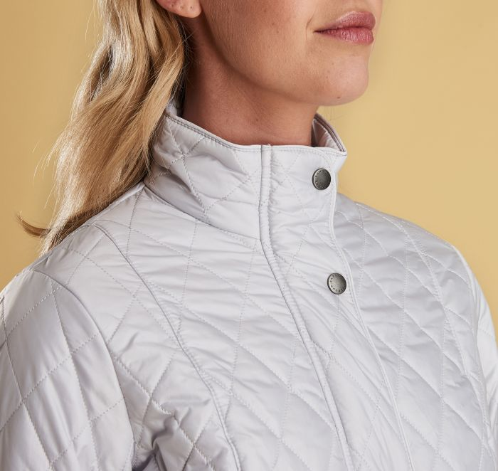Barbour Flyweight Cavalry Quilted Jacket for Ladies in Ice White