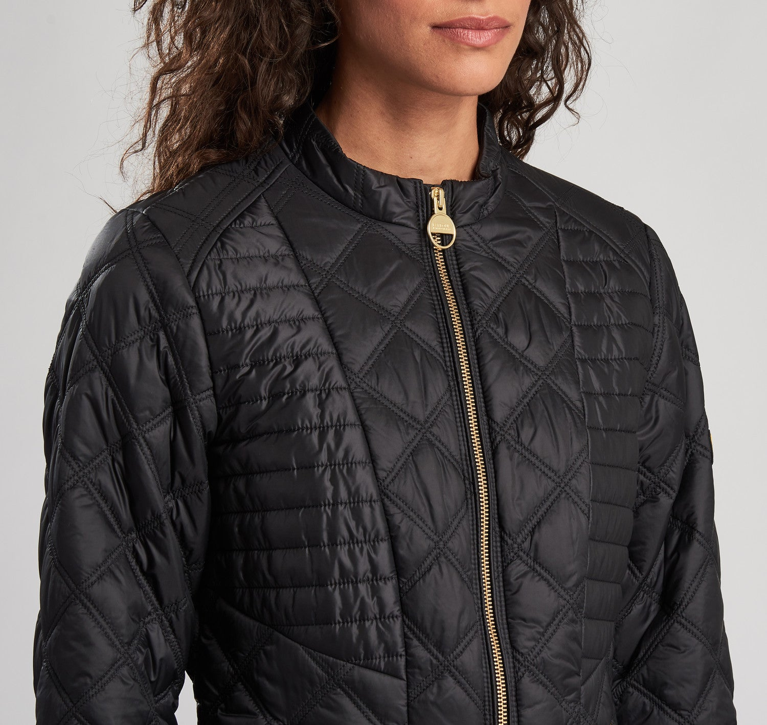 Barbour International Freethrow Quilted Jacket for Ladies in Black