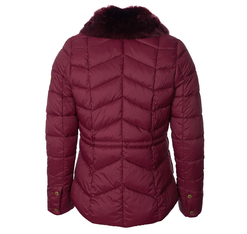 Barbour International Halfback Quilted Jacket for Ladies in Port