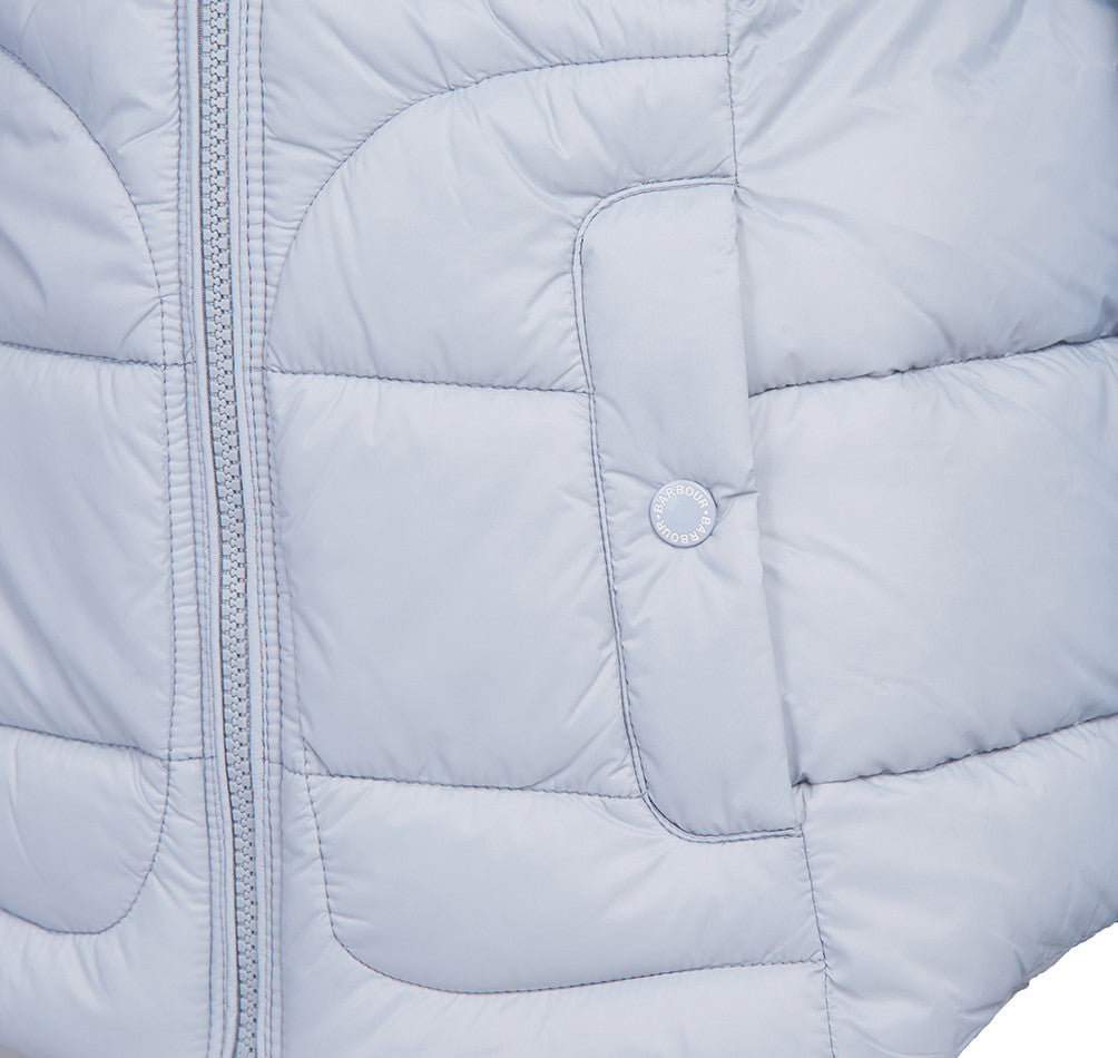 Barbour Dover Quilted Jacket for Ladies in Gray Dawn