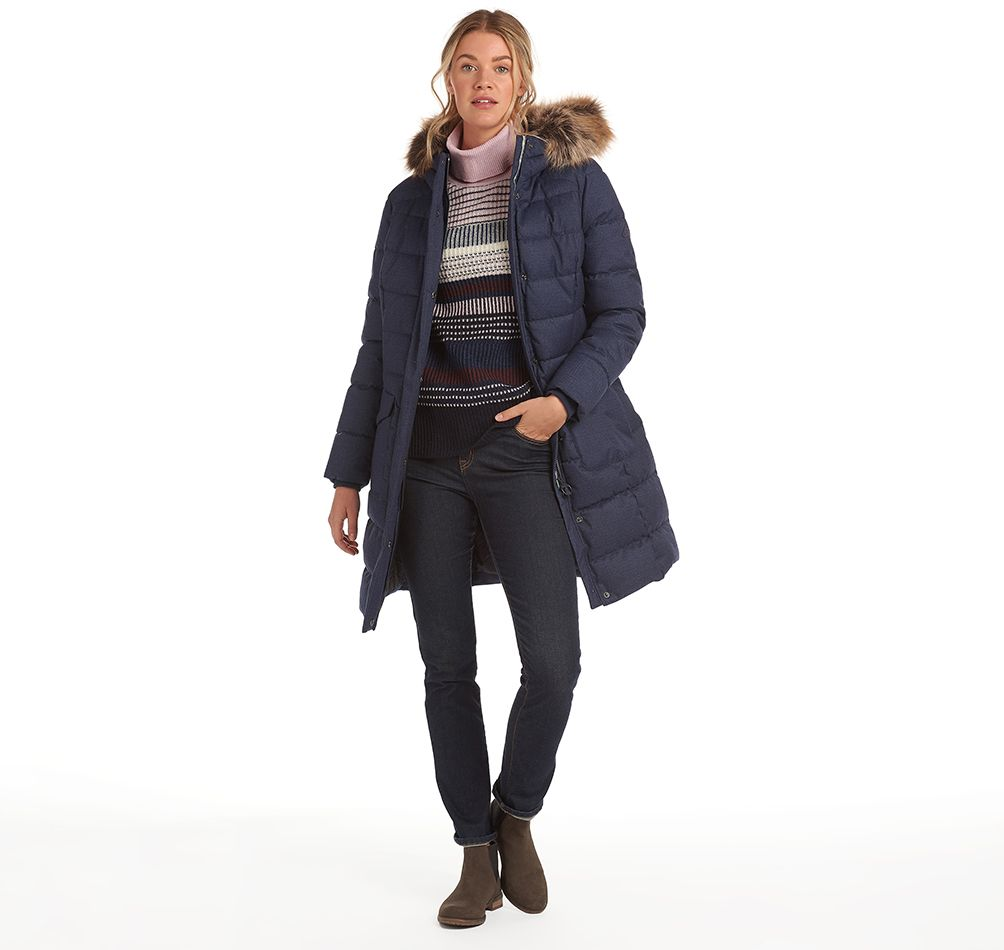 Barbour Guanay Quilt for Ladies in Dark Navy