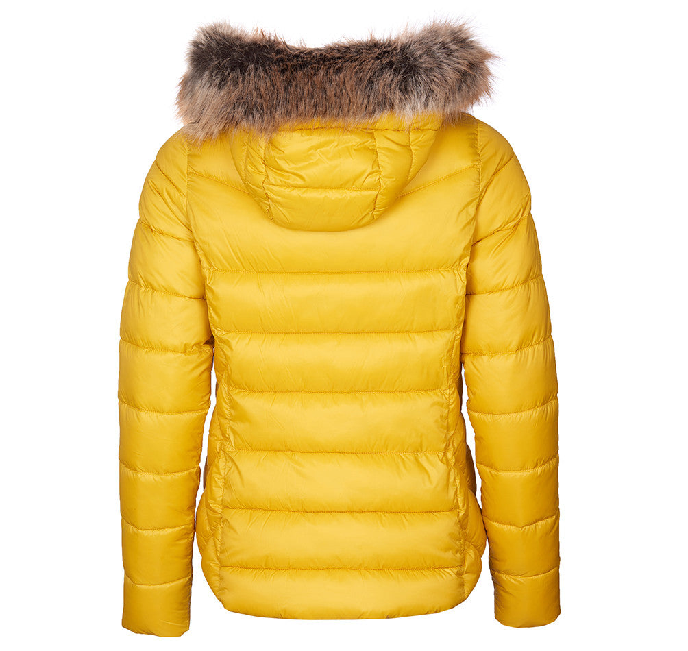 Barbour Irving Quilt Jacket for Ladies in Golden Yellow