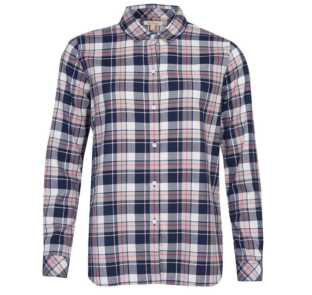Barbour Stokehold Shirt for Ladies in Navy Check