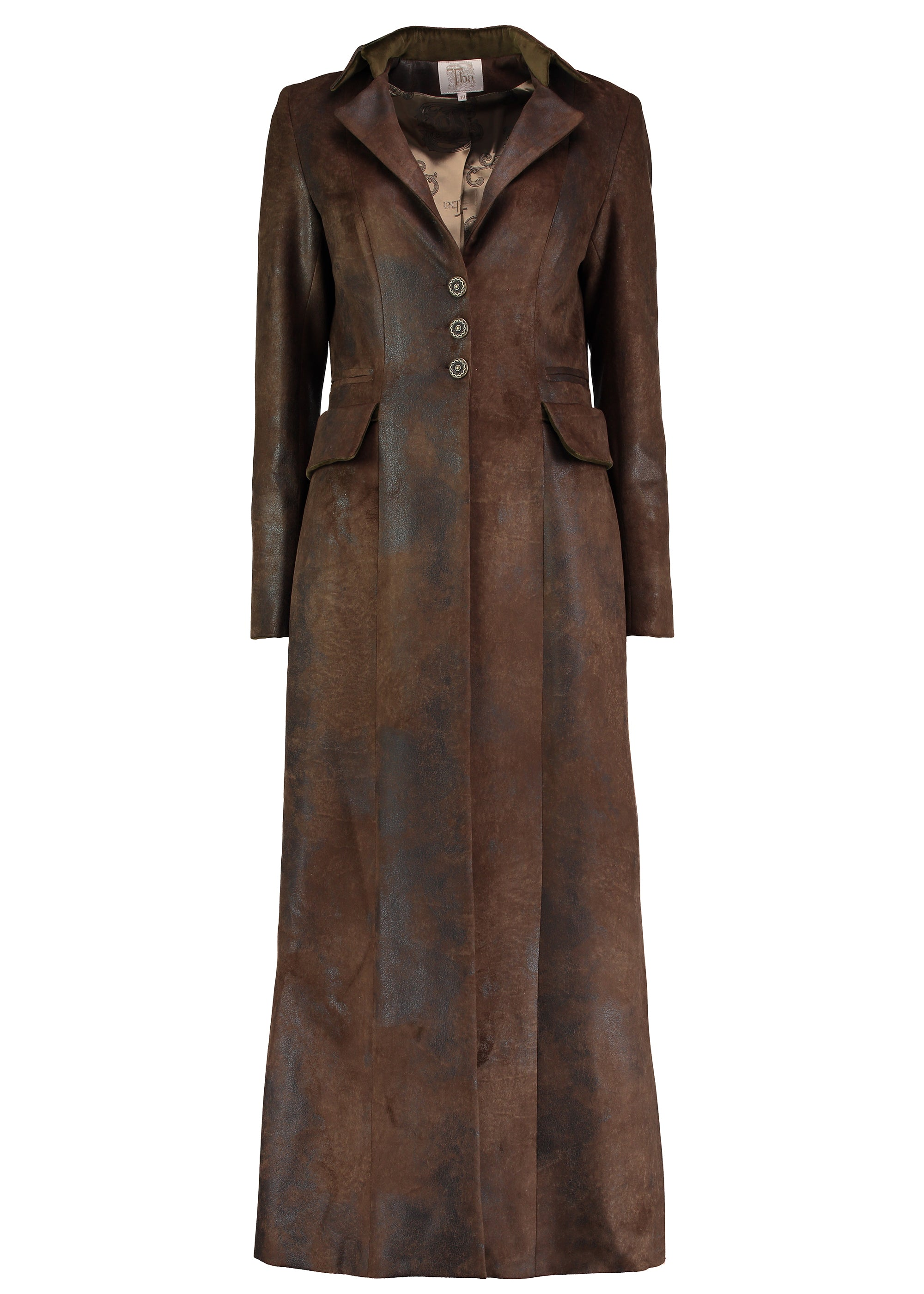 T.Ba Classic Long Coat for Ladies in Gnu