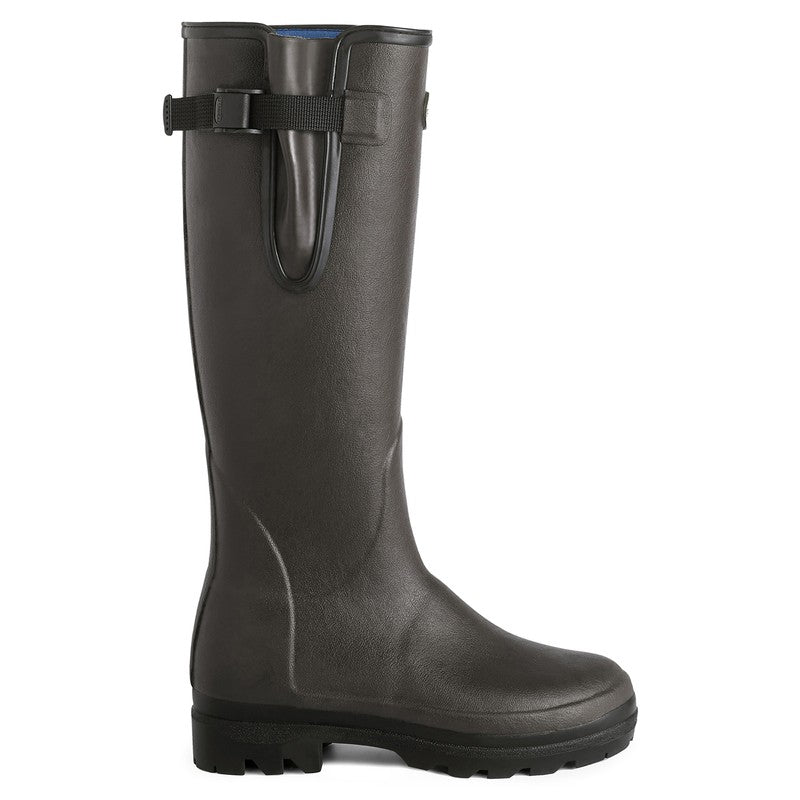 Le Chameau Vierzonord Neoprene Lined Wellington Boot for Ladies in Marron Foncé